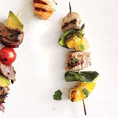 Pork and Pineapple Kebabs | Cooking Light #myplate #protein #fruit