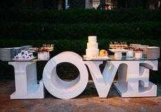 Love Table // Heather Kincaid Photography // http://blog.theknot.com/2013/09/12/a-cheerful-vintage-wedding-video-for-a-playful-malibu-wedding/