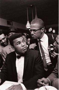 Mohammed Ali et Malcom X
