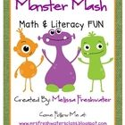 Monster Mash Math and Literacy Activities for October Theme centers