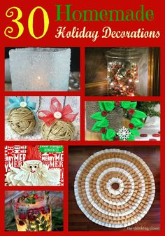 Getting ready to start decking your halls, but want to do so on a budget? These fun and frugal crafts make for great and affordable homemade holiday decorations. Click on the links below for how to instructions and how to make them for your family just in time for the holidays. How to Make …