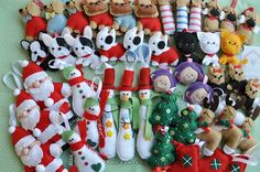 felt crafts - i always make a few new felt ornaments for our tree - some lovely ones here.