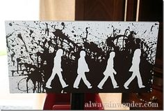 DIY-Abbey Road Art (Tutorial)  When I think of music or bands one that stands out is The Beatles. Who doesn't love at least one of their songs?  This would be a great gift for a music lover.