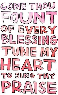 I love this hymn.