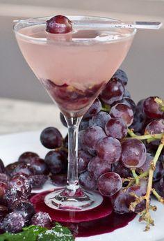 Sexy Grape ~ with Ciroc, grapes, lemon juice, simple syrup, sour, and lemon-lime soda