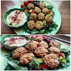 Healthy Baked Falafel with Homemade Hummus!
