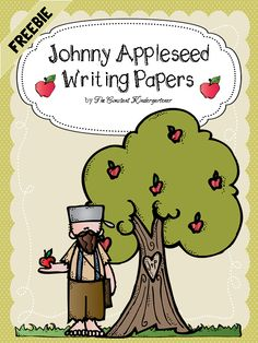 FREE Johnny Appleseed themed writing and drawing papers for the children to use in projects at school or at home! Also great for teacher's notes and homework.