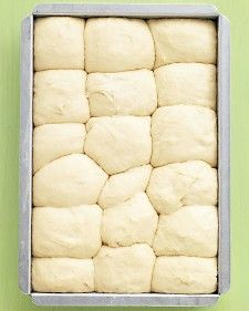 Even beginner-level bakers will have no trouble making these fluffy rolls; the dough can be prepped, put in the pan, and chilled up to a day ahead. christmas dinners, noknead dinner, dinner roll, food, bread, fun recip, yummi, rolls, bakers
