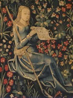 "♪ The Musical Arts ♪ music musician paintings - Fragment of ""Shepherd and Shepherdess Making Music"" (Met Museum)"