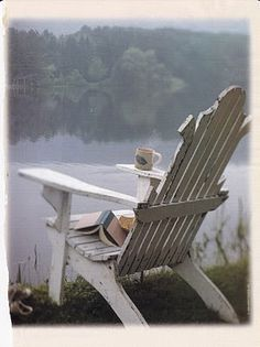 adirondack chairs, cottag, heaven, reading spot, book
