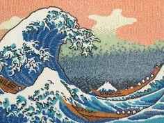 """Quadro """"A Grande Onda de Kanagawa"""", de Hokusai, recriado com jujubas"""