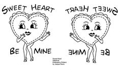 Sweet Heart Valentine Embroidery Pattern | Flickr - Photo Sharing!