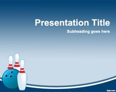 Bowling PowerPoint template is a free template for PowerPoint with bowling images that you can use to create amazing sport presentations about Bowling or other sport events