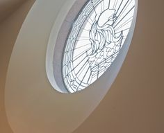 An artful glass design oversees guests as they enter the foyer at The Ritz-Carlton, Atlanta.