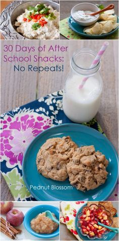 30 Days of After School Snacks: No Repeats! | Peanut Blossom