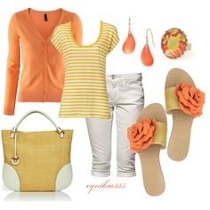 """Peachy"" by cynthia335 on Polyvore"