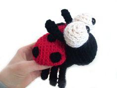 Amigurumi Crochet PATTERN: Ladybug -pdf-