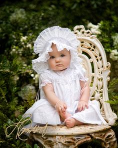 This charming little girl looked so pretty in her Easter Bonnet