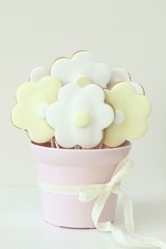 gift boxes, flower cookies, gift ideas, flower bouquets, sweet gifts, cookie gifts, flower pots, cookie bouquet, baby showers