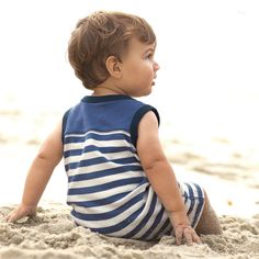 super cute romper for my little boy. it reminds me of the swimsuits from the 1930s! #TeaSummer