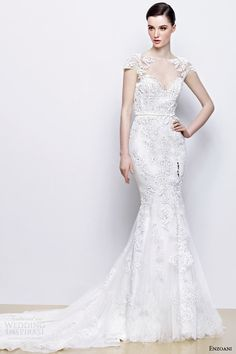 enzoani wedding dresses 2014 bridal indira illusion cap sleeve gown   #wedding #weddingdream123 #weddingdress #dress #gown