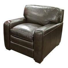 Stevens Leather Chair in Brown | Nebraska Furniture Mart