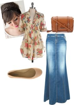 """""""Modest Summer"""" by christianmodesty ❤ liked on Polyvore"""