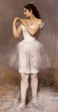 The Ballerina (1899). Pierre Carrier-Belleuse (French, 1851–1932). Pastel on paper mounted on canvas.