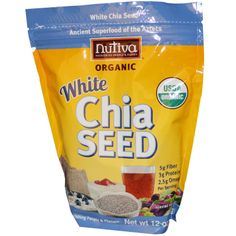 Nutiva, Organic White Chia Seed, 12 oz (355 g) - iHerb.com. Bruk gjerne rabattkoden min (CEC956) hvis du vil handle på iHerb for første gang. Da får du $5 i rabatt på din første ordre (eller $10 om du handler for over $40), og jeg blir kjempeglad, siden jeg får poeng som jeg kan handle for på iHerb. :-)