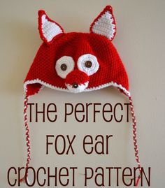 Feather's Flights {a creative, sewing blog}: The Perfect Fox Ear Crochet Pattern