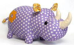 Rhino softie pattern by DIY Fluffies  At @GoToPatterns