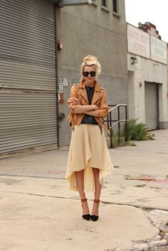 skirt, atlantic pacific, fashion, style, color, outfit, club monaco, leather jackets, shoe