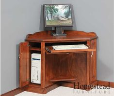 Corner Computer Desk. http://homesteadfurnitureonline.com/secretary-desk_corner-computer-desk.html