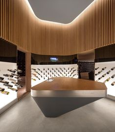 Wine and champagne bar by Studio Arthur Casas, Sao Paulo