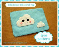 DIY Doll House Felt Cloud Rug - FREE Pattern