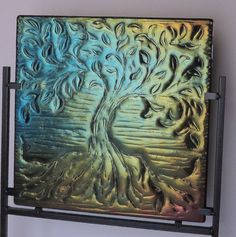 Glass Art Home Decor Tree of Life by Smokeylady54 on Etsy, $200.00