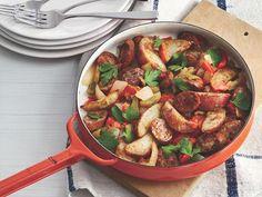 Skillet Sausage & Potato Hash makes a great heart brunch. Serving size: 8.25 oz. WW Points+: 7