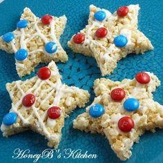 Rice crispy treat stars