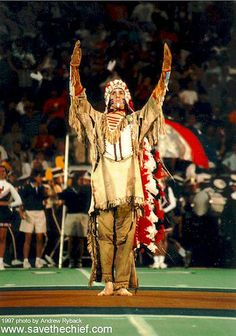 Chief Illiniwek , mascot of the University of Illinois