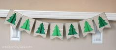 Christmas Tree Banner (Swell No�l Series) @Amy Lyons Bell {Positively Splendid}