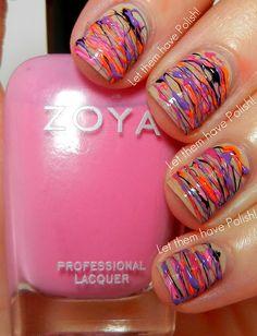 Let them have Polish!: Pink [Enough] Wednesday!! Zoya Spun Sugar Mani