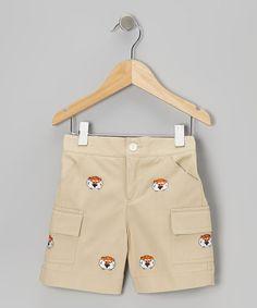 Take a look at this Khaki Auburn University Aubie Cargo Shorts - Toddler & Boys by Vive La Fête on #zulily today!