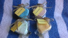 Relaxing Lavender Bath Salts In A Heart Shaped Glass Jar With Cork