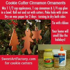 Cinnamon Ornaments - cutters from SweetArtFactory.com