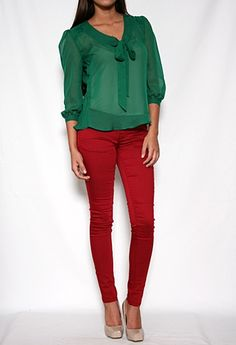 Long Sleeve Top with Tie Neck #privategallery #PGWishlist