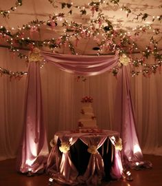 Cake Table with Cake Canopy