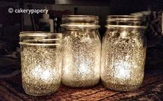 Holiday Mason Jar candles paint inside of jar with watered down Elmer's glue and sprinkle with glitter. Add tea light.