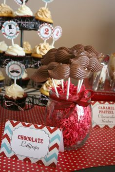 "Chocolate Lollipops - Little Man Mustache Bash"" | Catch My Party"