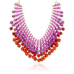 """Kate Spade New York """"On the Ave"""" Ruby-Color Multi Color Bib Necklace"""