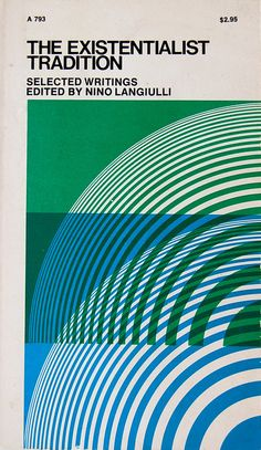 design by Fred Troller for The Existentialist Tradition, 1971.